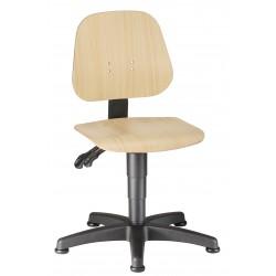 Sedia base con pattini UNITEC 1 in legno