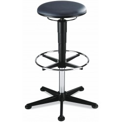 Sgabello alto STOOL 3 in pelle artificiale